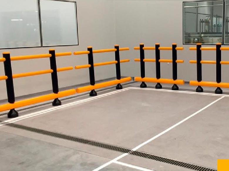 Barriere zone de manutention, barrières de protection industrielle