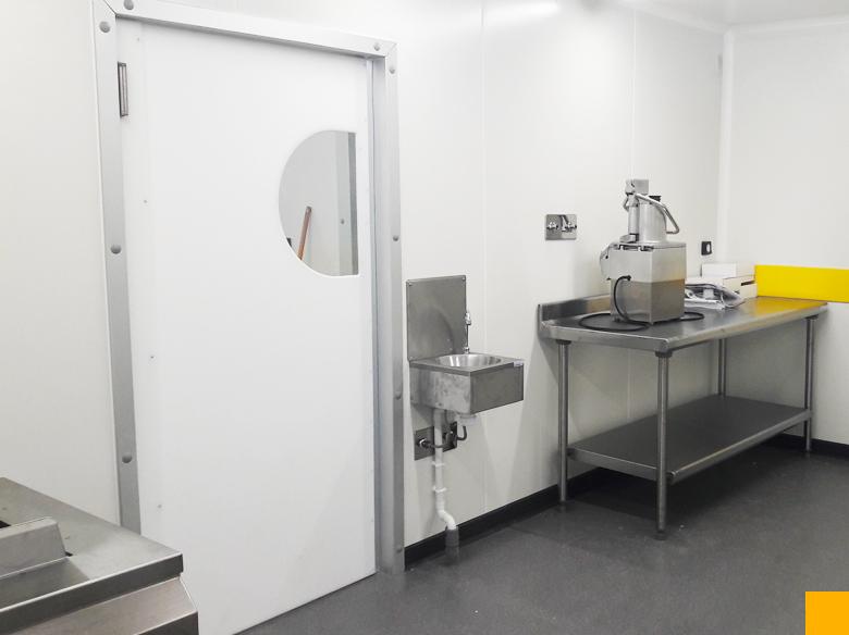Portes isolées va et vient pour laboratoire et cuisine