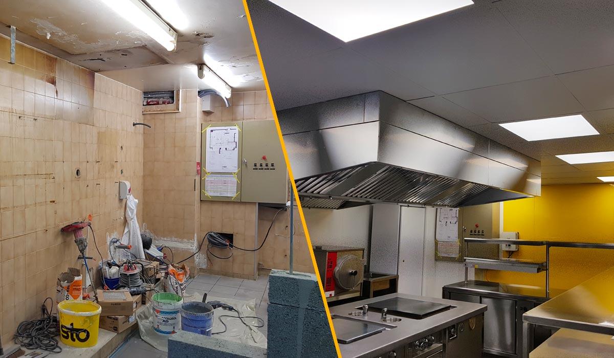Rénovation cuisine la clé des champs Cloisons du Midi