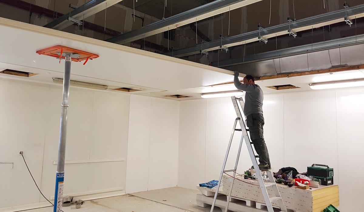 Rénovation murs et plafond hôpital Croix Rousse Lyon