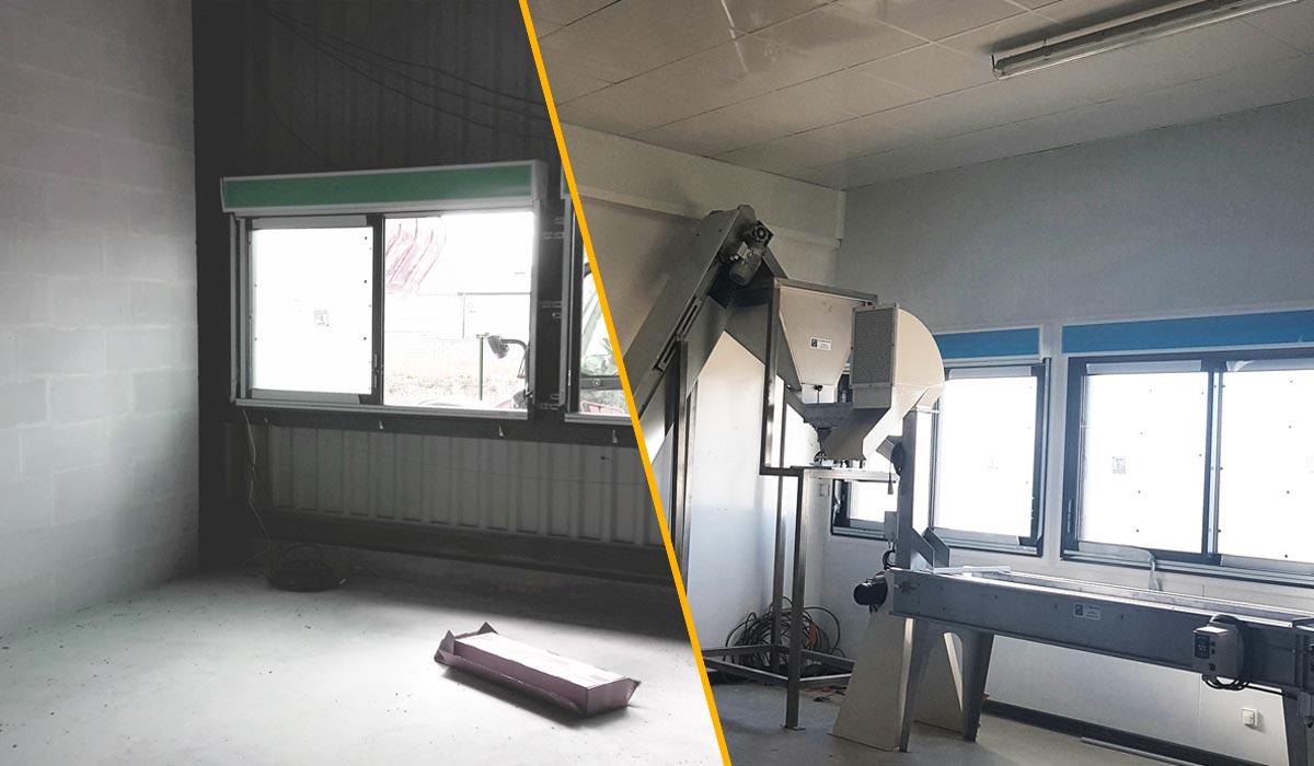 Rénovation usine agroalimentaire Délices des Bois avec panneaux isothermes