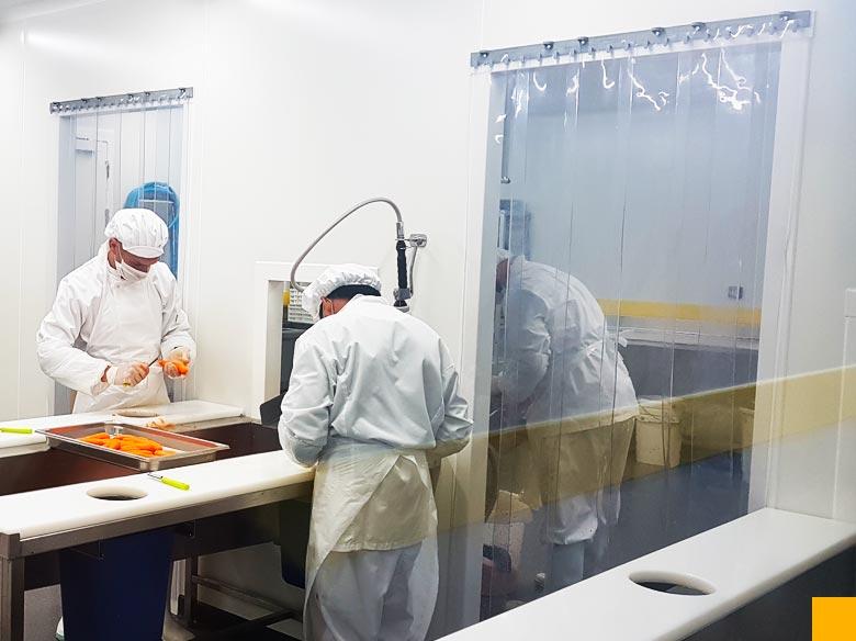 Rideau à lanières industrie agroalimentaire Cloisons du Midi