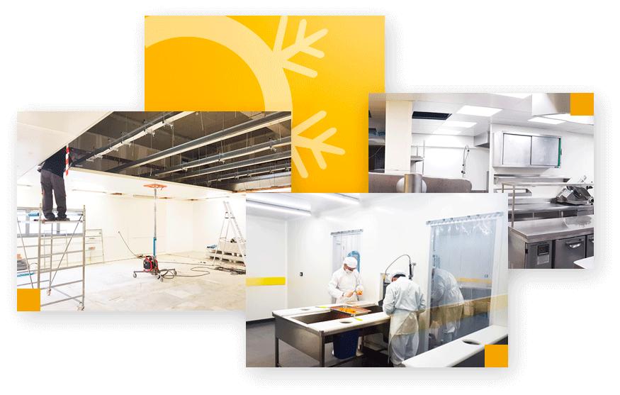 renovation murs et plafonds laboratoires cuisines cloisons du midi